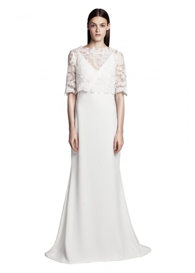 花朵蕾丝两件套长裙