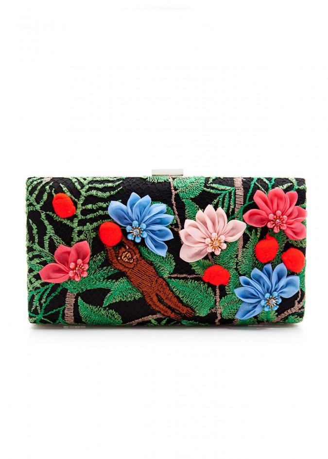 丛林绣花蕾丝手包
