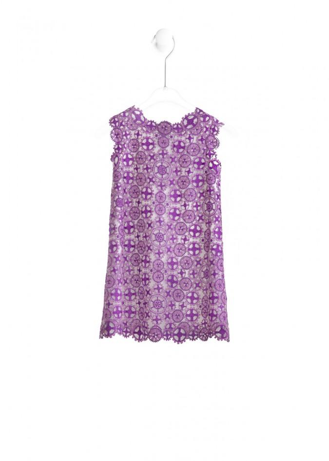 紫色鸢尾花连衣裙