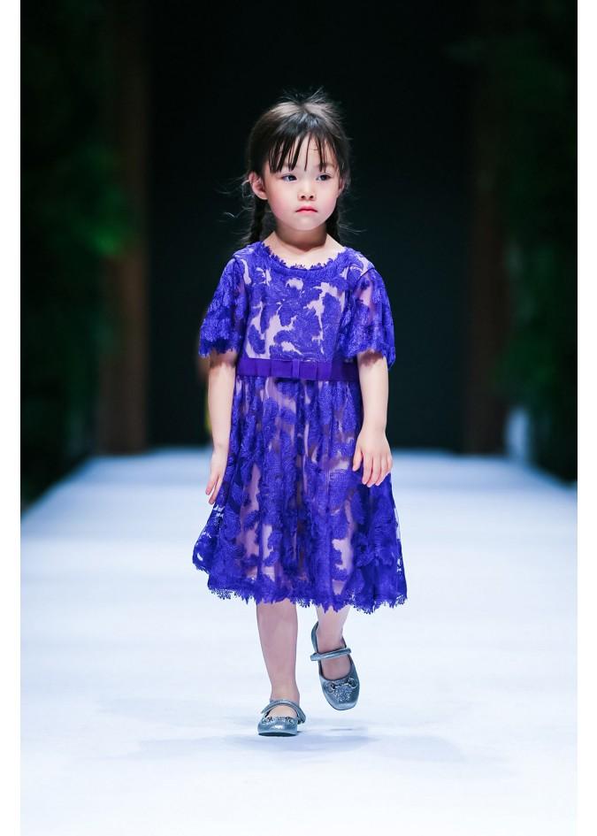 紫色月桂连衣裙
