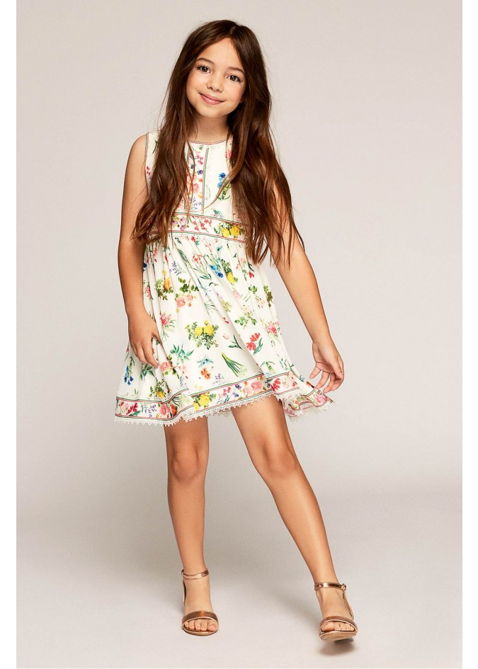 花朵印花连衣裙