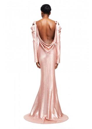 珠片蕾丝吊带长裙