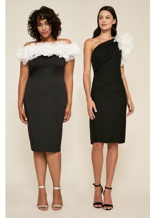 黑白经典母女装