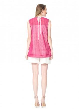 条纹雏菊裢蕾丝套装