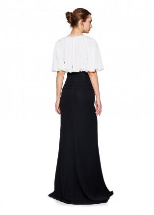 黑白复古修身长裙