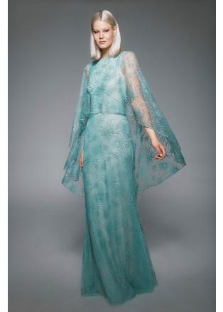 星光刺绣斗篷连衣裙