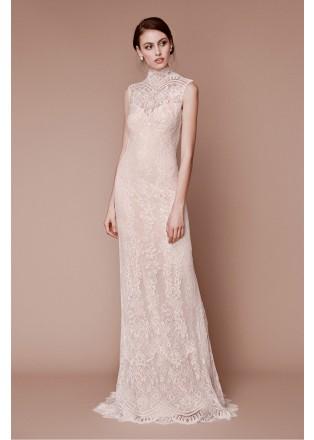 绣花蕾丝复古长裙