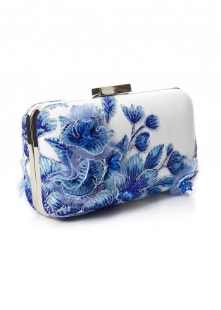 立体花朵蕾丝手包