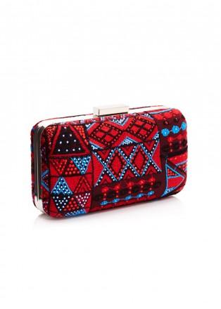 部落图案刺绣手包