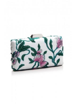 花鸟刺绣钉珠手包
