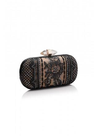 蕾丝钉珠装饰手包