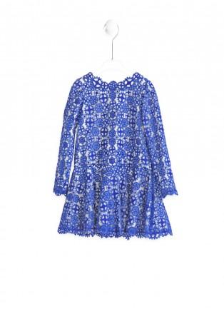 蓝色勿忘我连衣裙