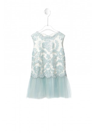 珠片蕾丝网纱连衣裙