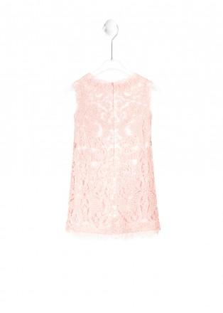 粉色丁香花连衣裙