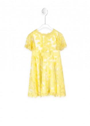 黄色郁金香连衣裙