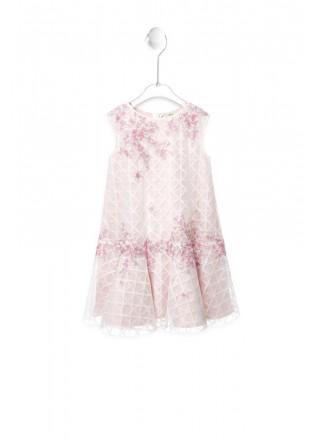 樱花刺绣摆浪连衣裙