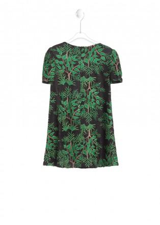 丛林绣花连衣裙