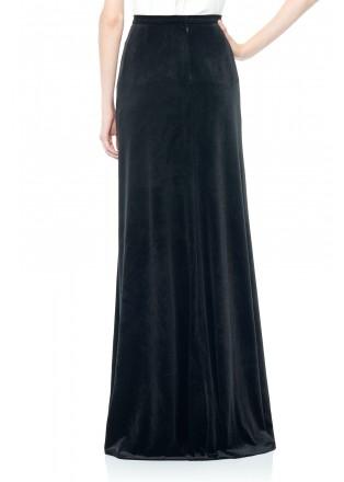 丝绒及地长裙