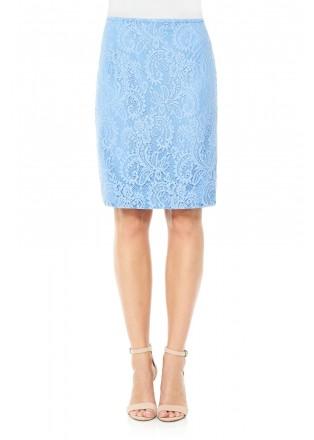 股线蕾丝铅笔裙