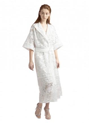 芍药蕾丝和服式连衣裙