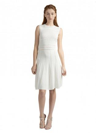无袖针织修身连衣裙
