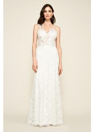 绣花蕾丝网纱长裙
