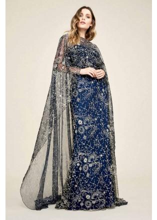星空钉珠斗篷式长裙
