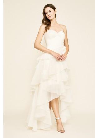 立体花朵层叠抹胸婚纱
