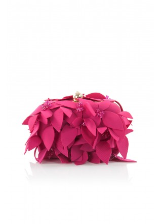 花朵钉珠方形手包