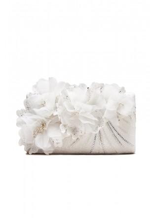 立体花朵钉珠新娘手包