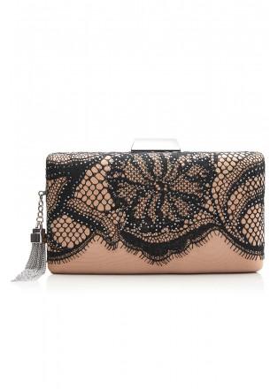 蕾丝流苏装饰手包