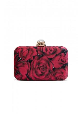 玫瑰印花手包