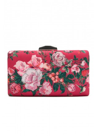 浪漫花朵印花手包