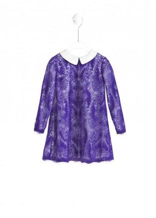 紫色雏菊连衣裙