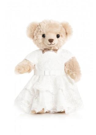 纯白芍药泰迪熊