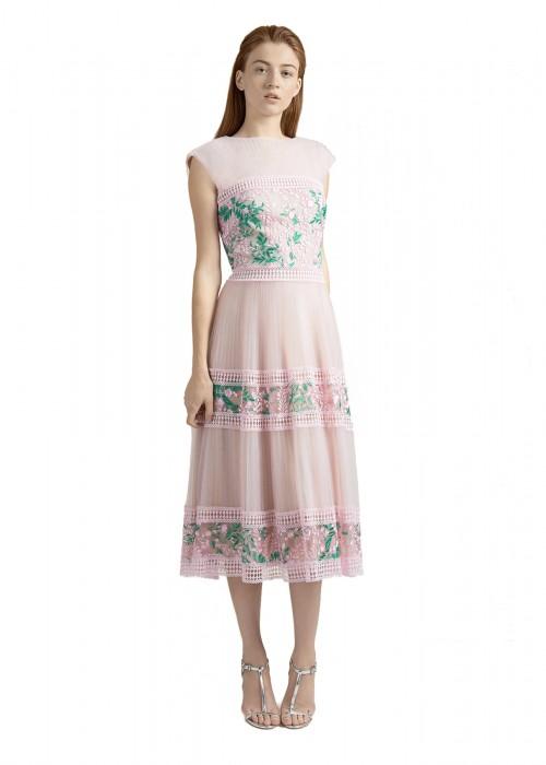樱花蕾丝网纱连衣裙