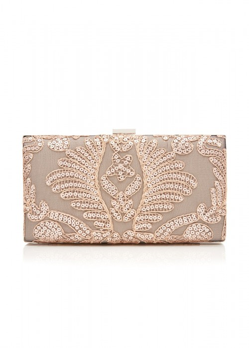 珠片绣花蕾丝手包