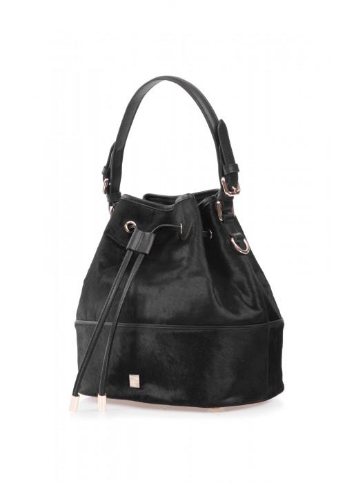 黑色马毛桶包