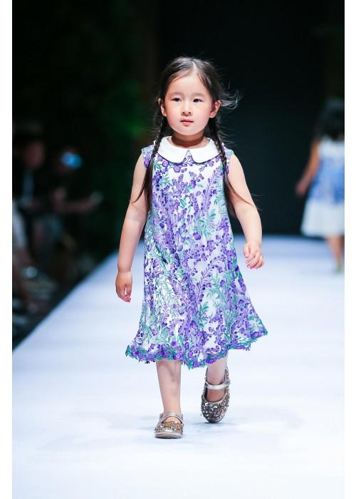 唯美紫藤连衣裙