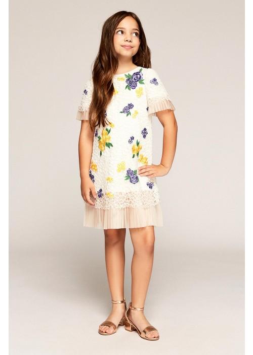 花朵装饰连衣裙
