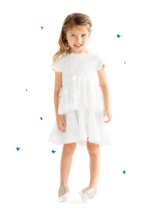 纯白芍药连衣裙