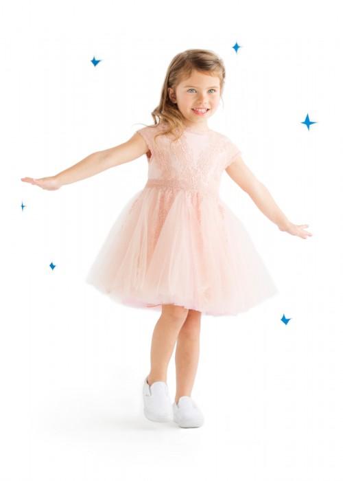 粉色霜糖连衣裙